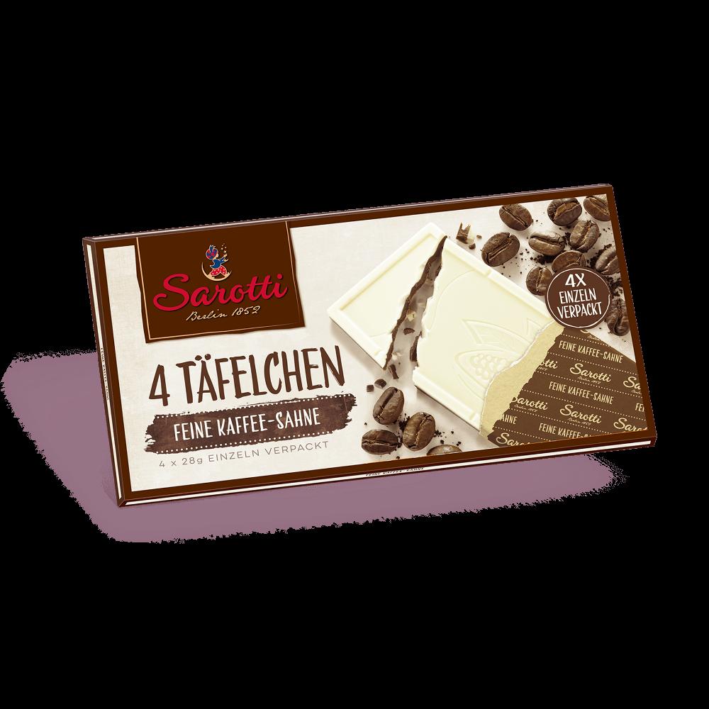 4 Täfelchen – Kaffee-Sahne