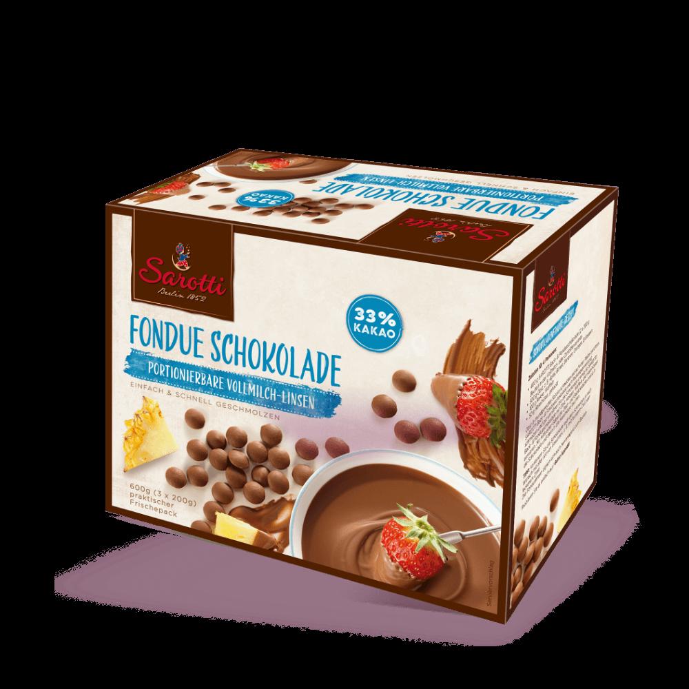 Fondue Schokolade – Vollmilch Linsen