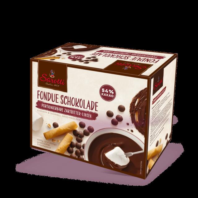 Bild für Fondue Schokolade – Zartbitter Linsen