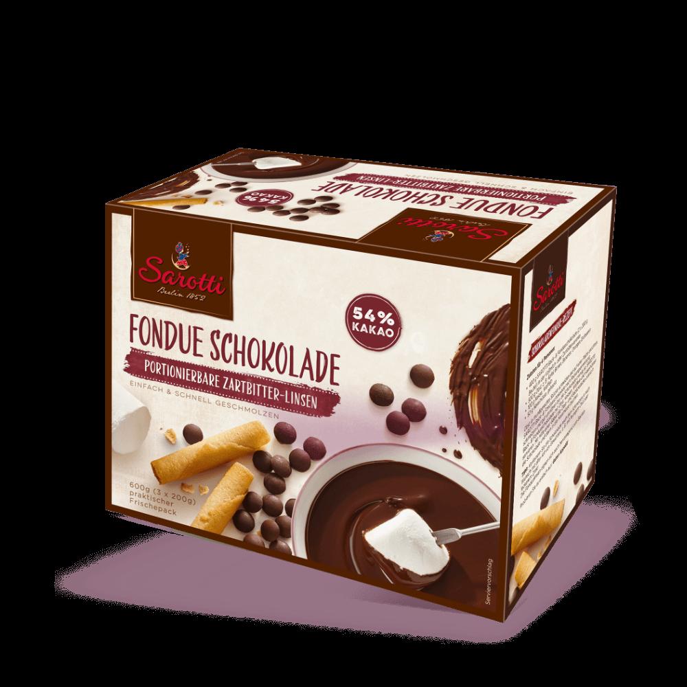 Fondue Schokolade – Zartbitter Linsen